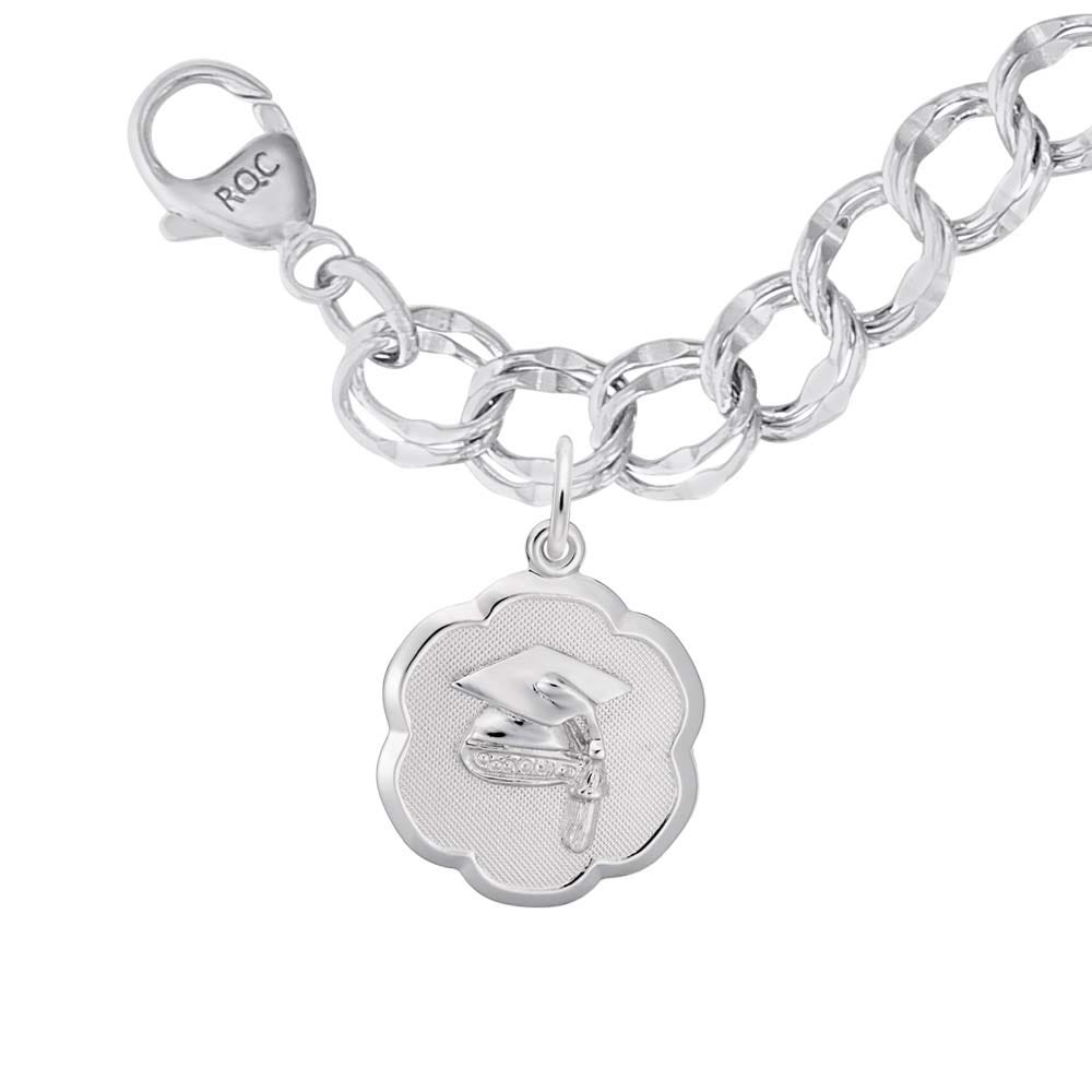 Graduation Charm Bracelet in Sterling Silver