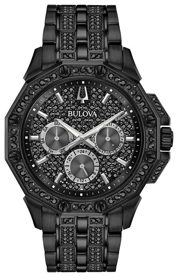 Bulova Men's Black Octava Watch 98C134
