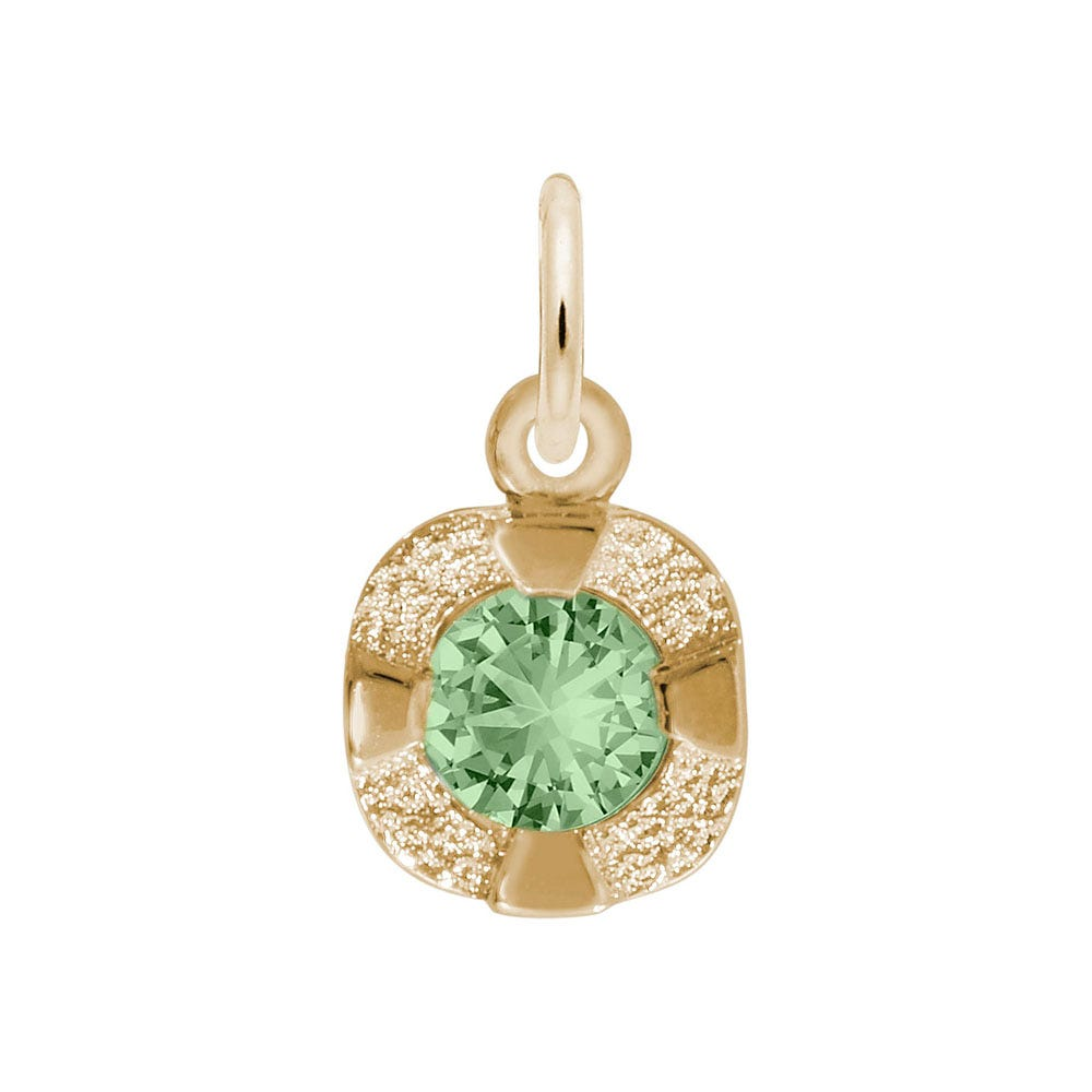 August Birthstone Petite Charm in 14k Yellow Gold