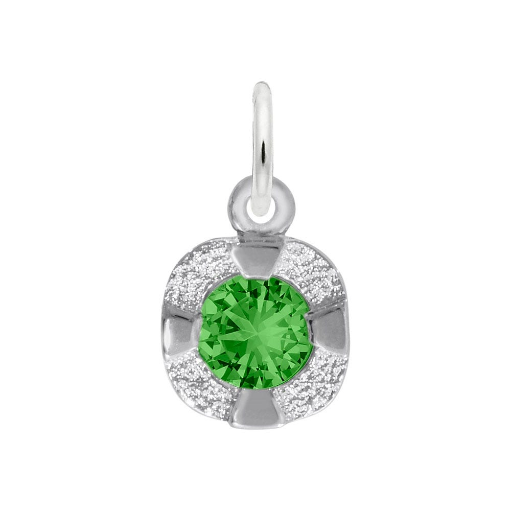 May Birthstone Petite Charm in 14k White Gold