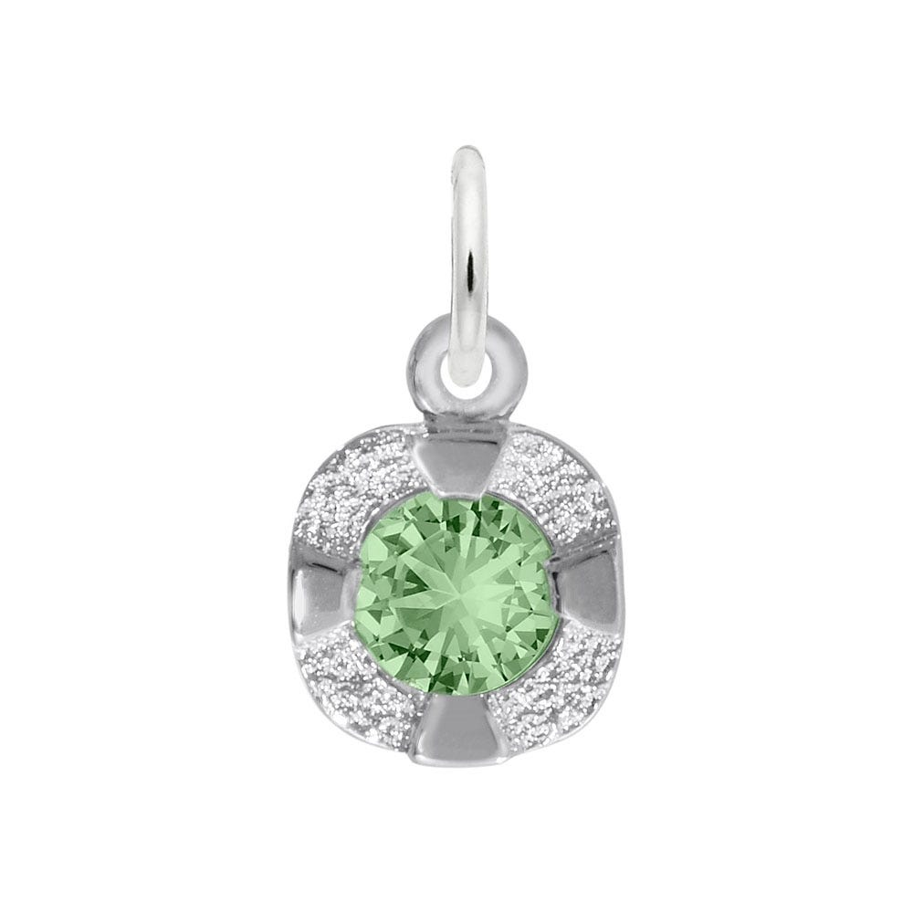 August Birthstone Petite Charm in 14k White Gold