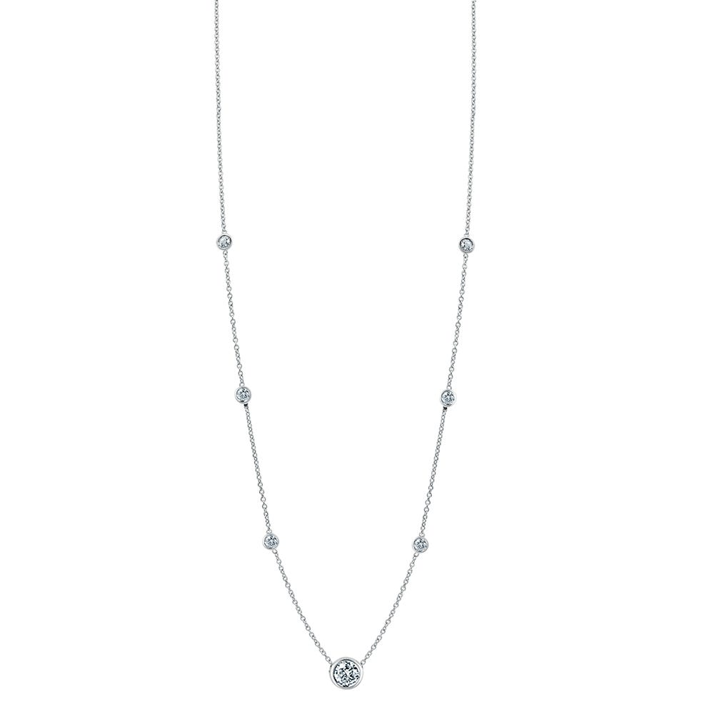Diamond By The Yard 0.40ctw Necklace 18