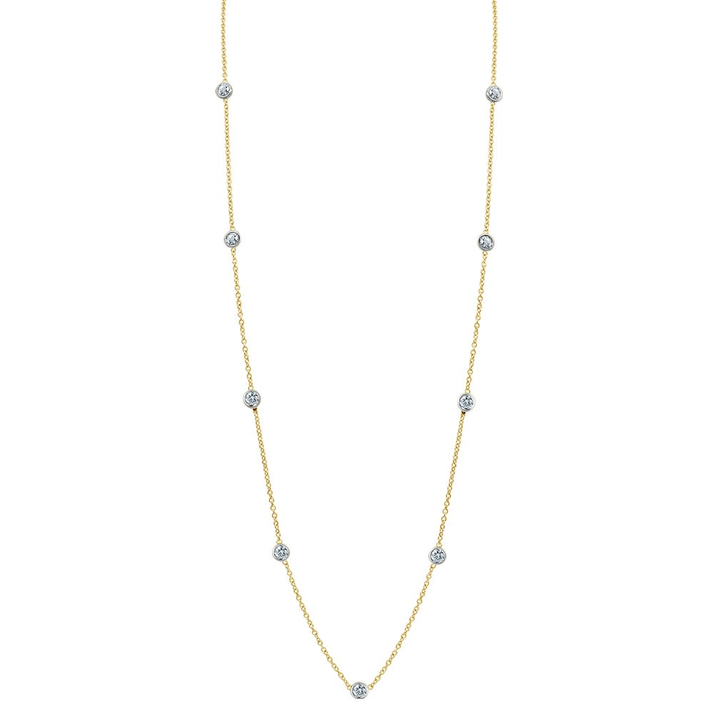 Diamond By The Yard 0.65ctw Necklace 18