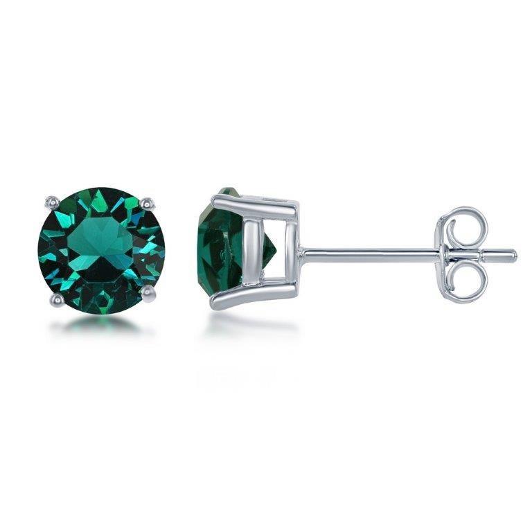 May Swarovski Crystal 6mm Earrings in Sterling Silver