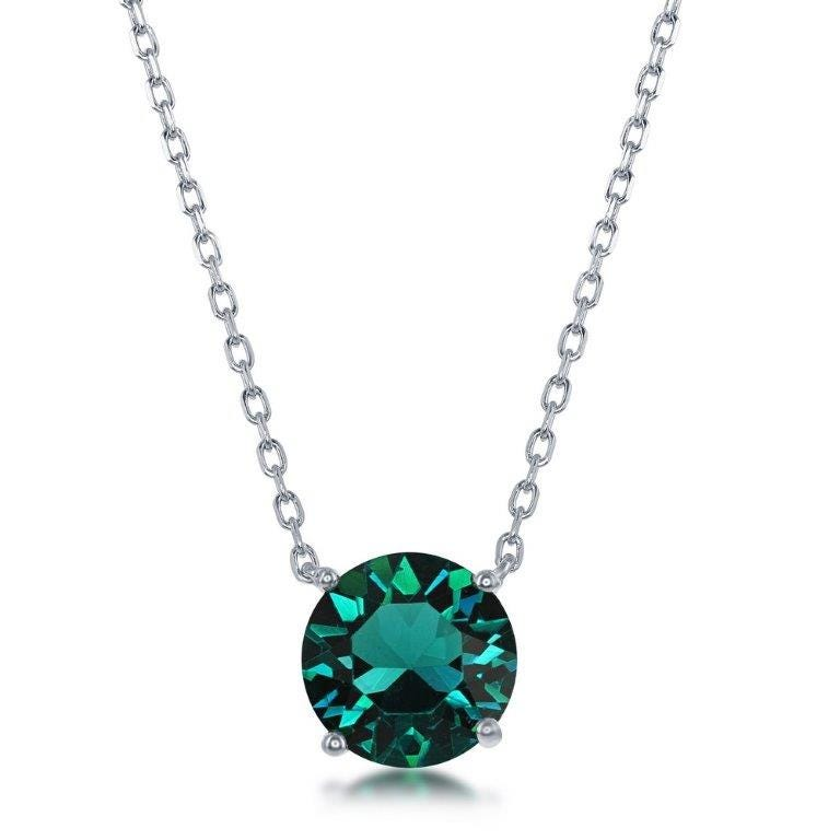May Swarovski Crystal Pendant in Sterling Silver