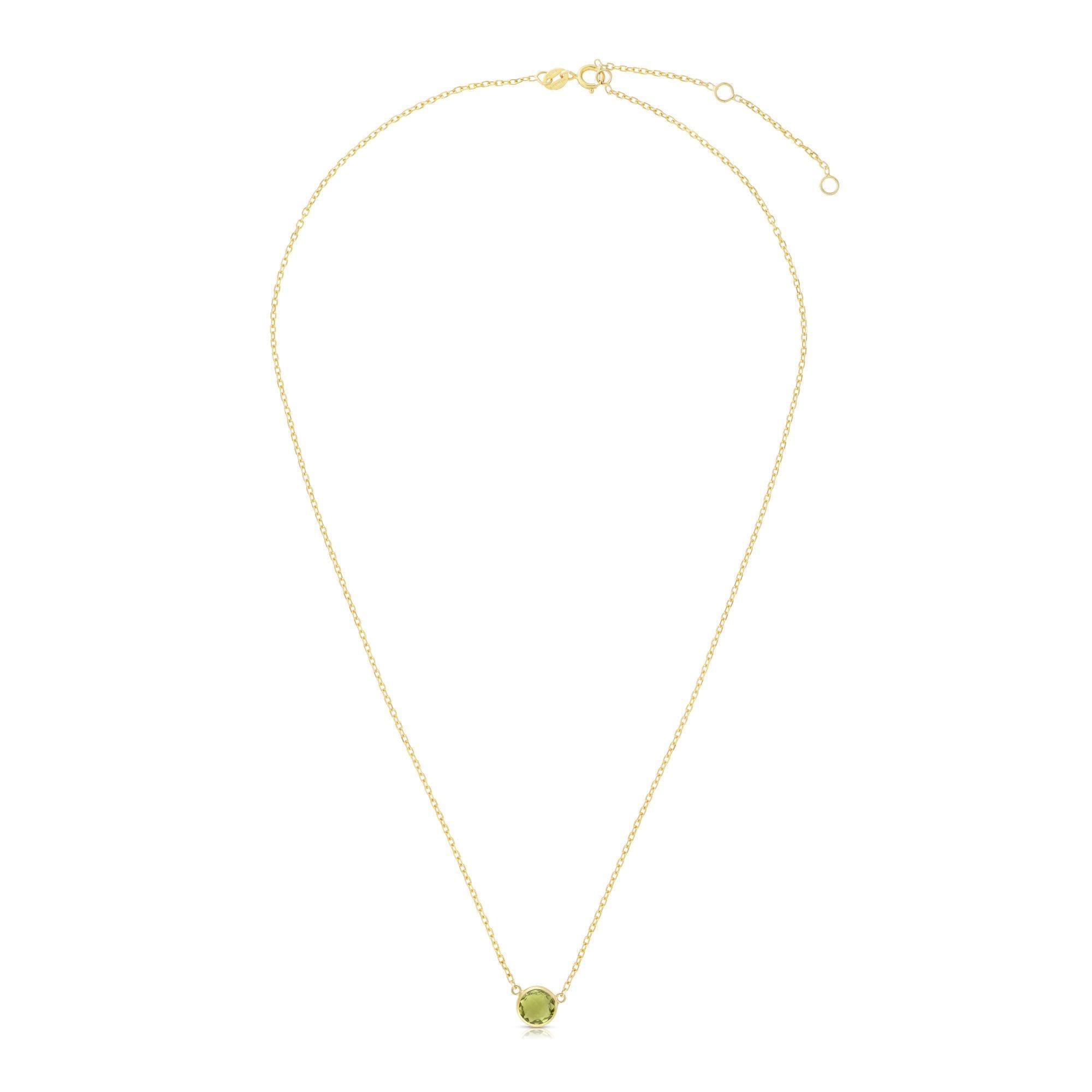 Peridot Round Necklace 17