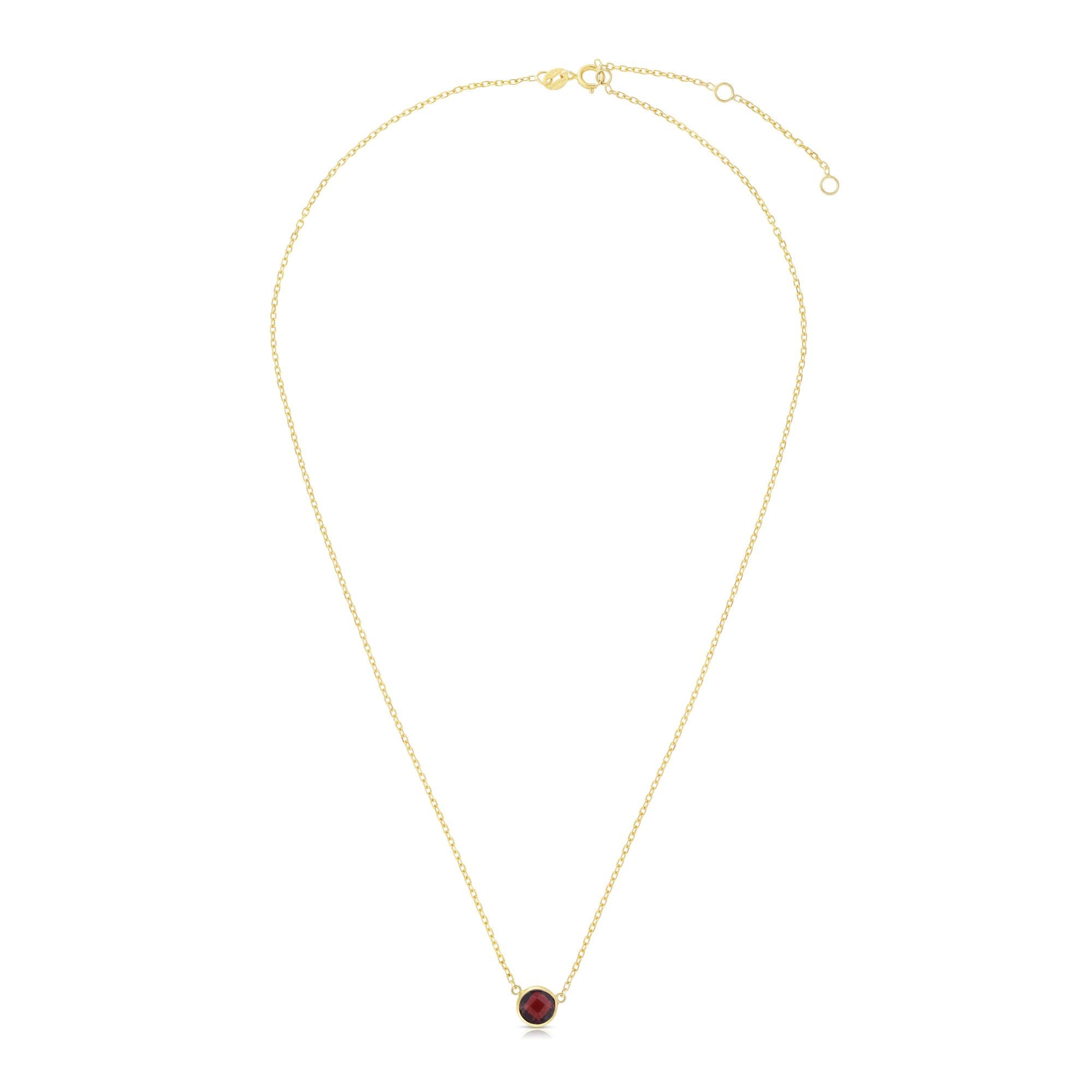 Garnet Round Necklace 17
