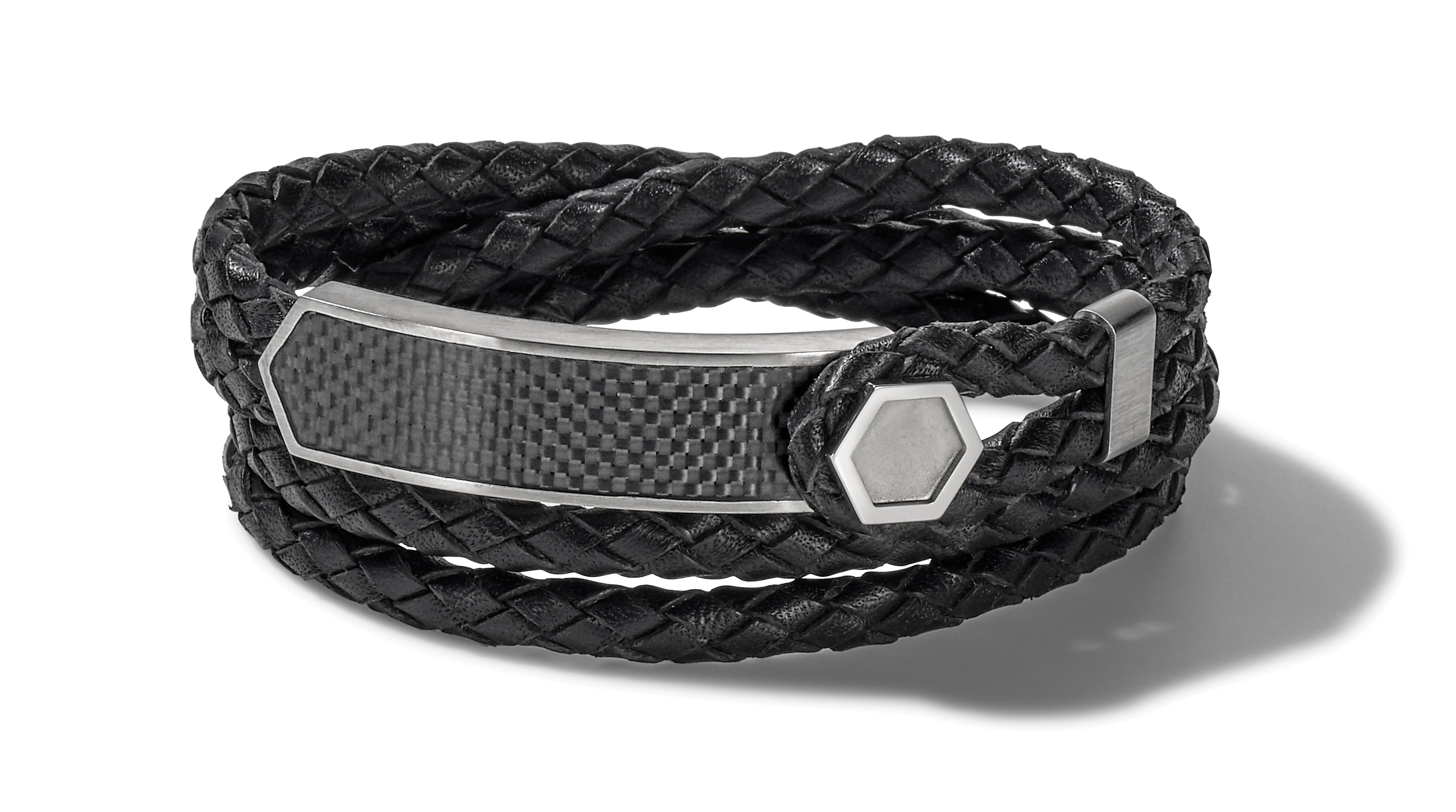 Bulova Precisionist Black Leather Bracelet J96B008L