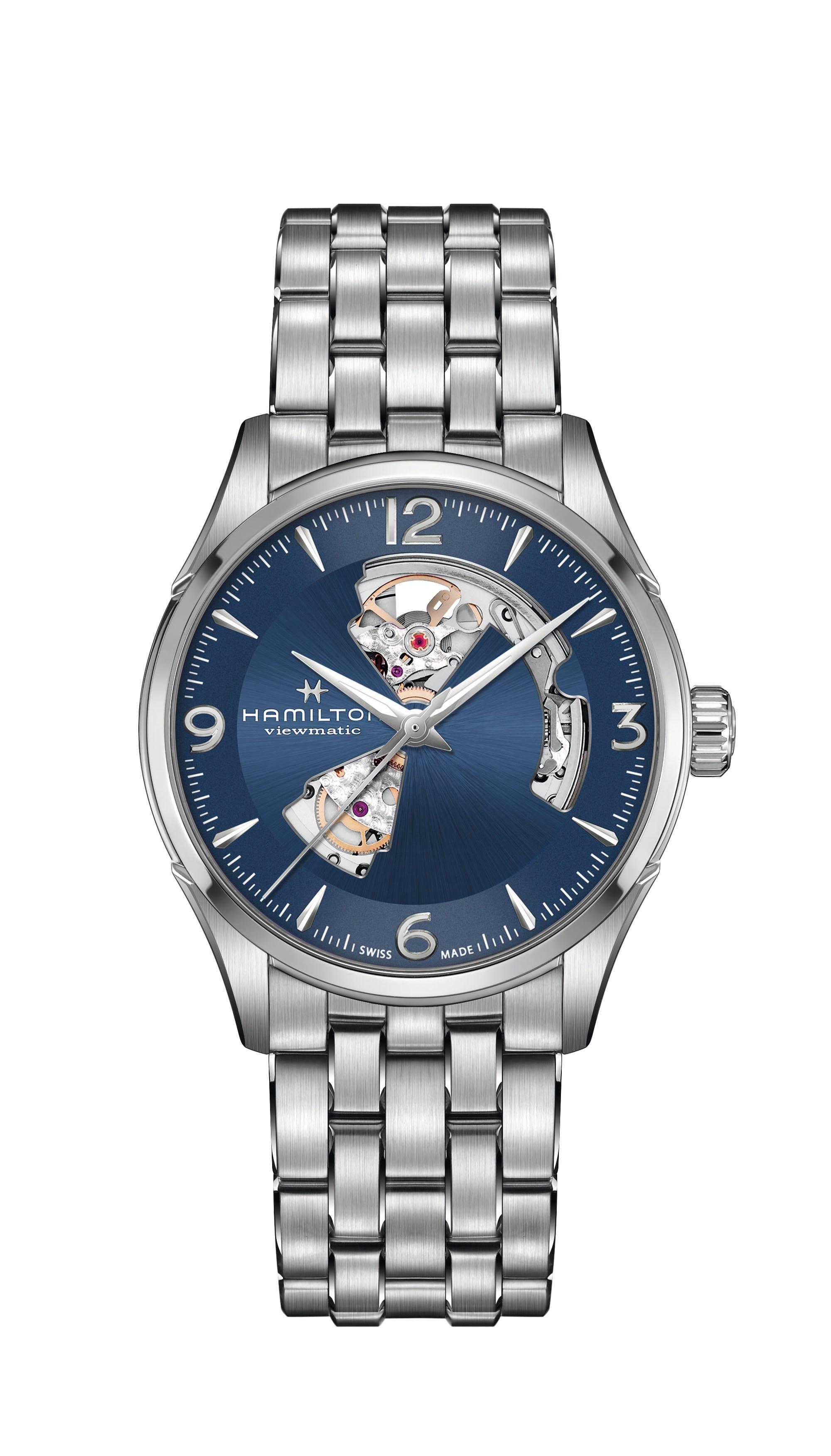 Men's Hamilton Jazzmaster Open Heart Watch H32705141