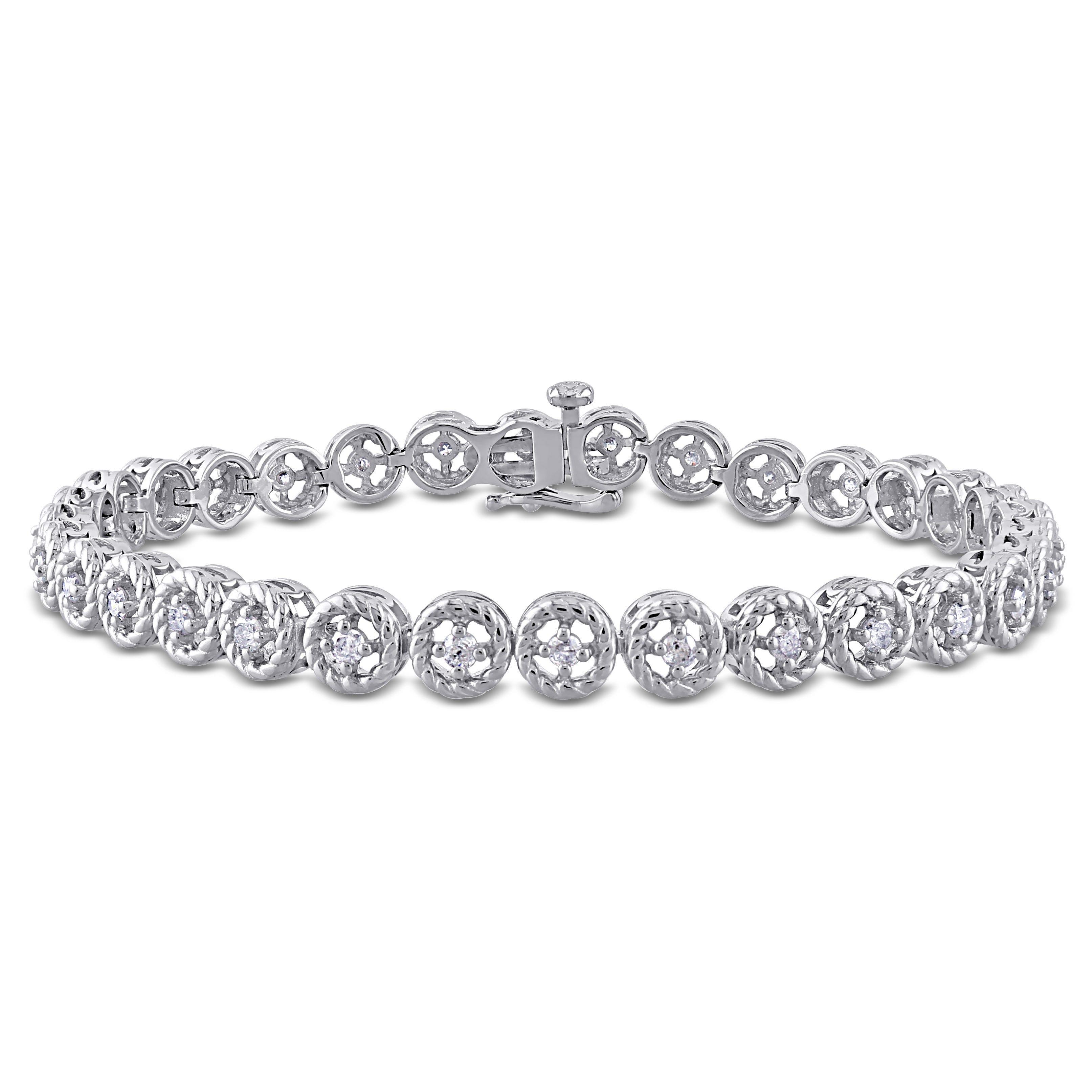 Diamond Tennnis Bracelet 1ctw in Sterling Silver