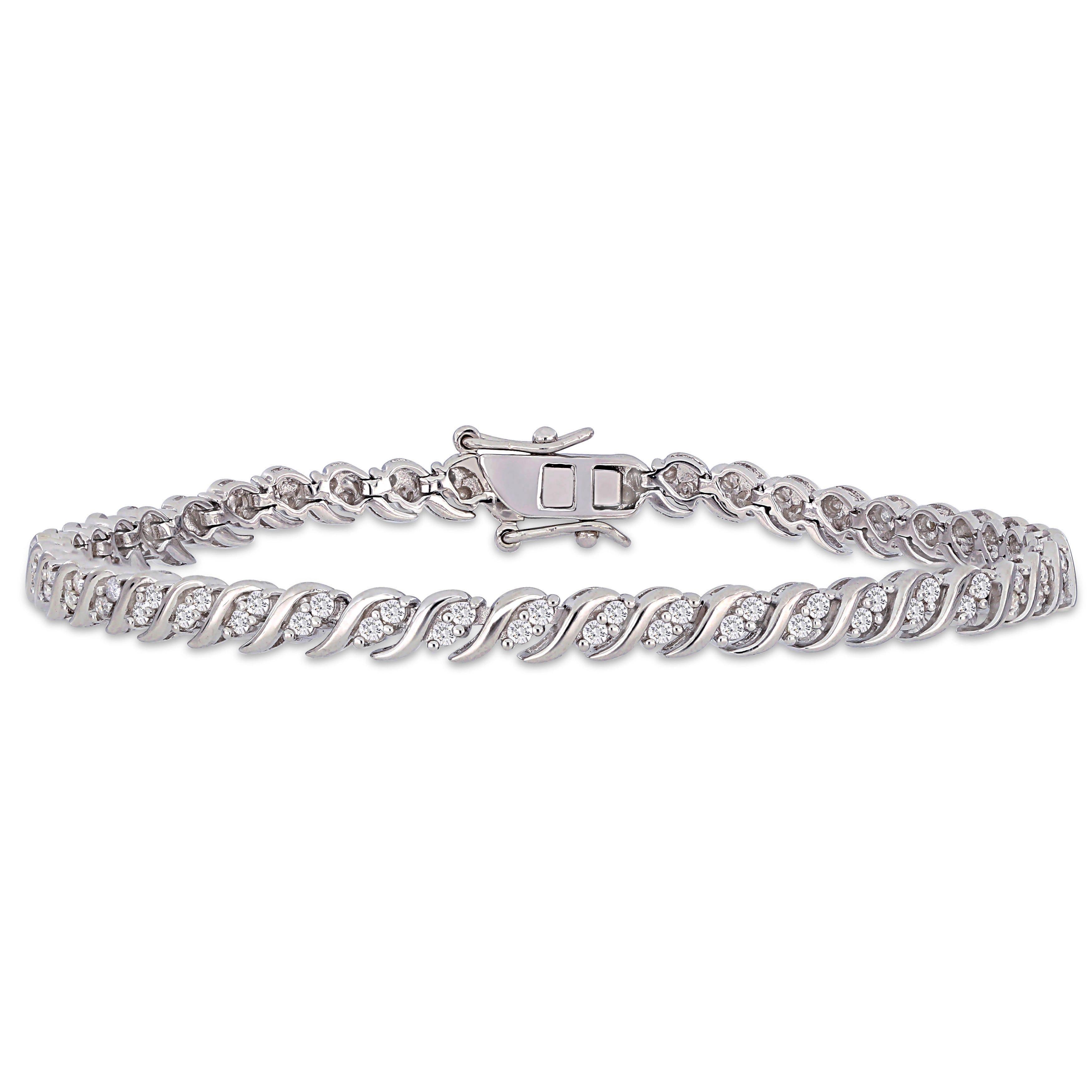 Diamond Tennis Bracelet 1ctw in Sterling Silver
