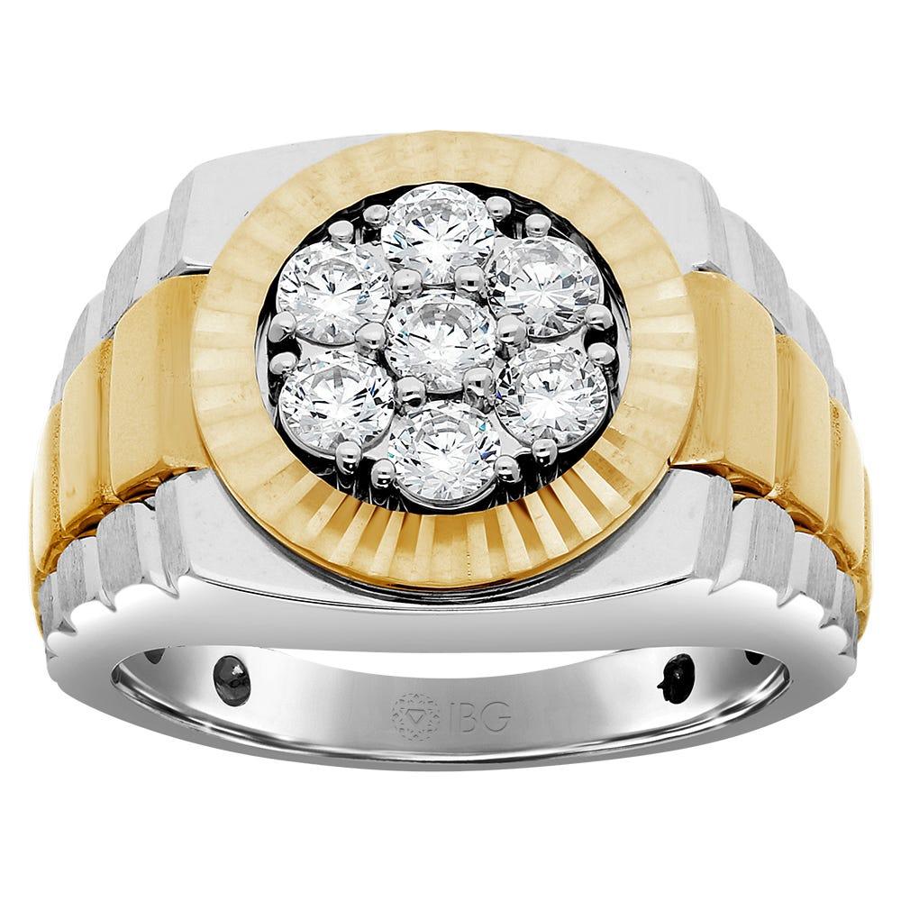 Men's Diamond 1ctw Ring in 10k White & Yellow Gold