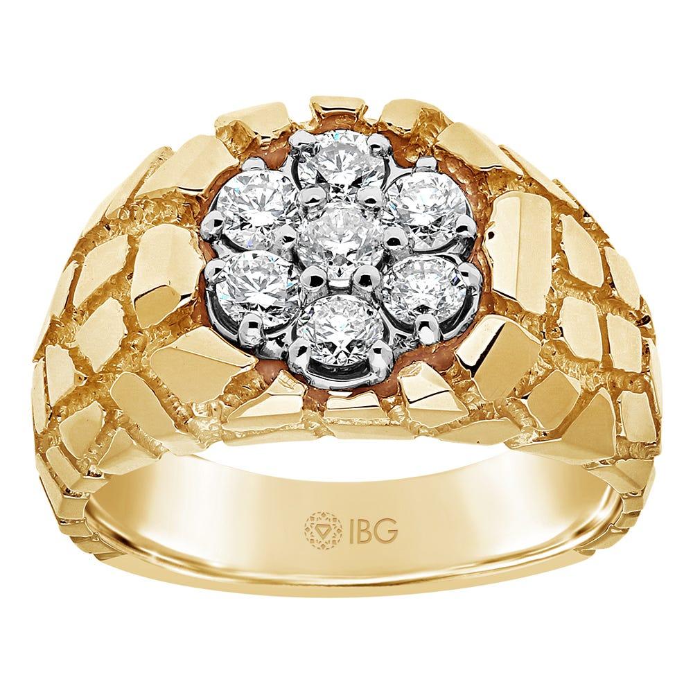 Men's Diamond 1ctw Ring in 10k Yellow Gold