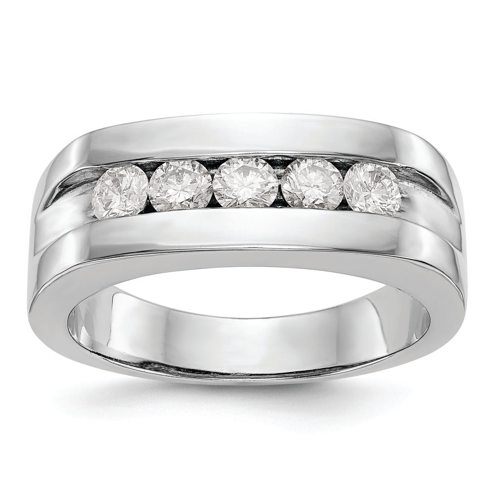 Men's Lab-Crafted Diamond 5-Stone Channel Band