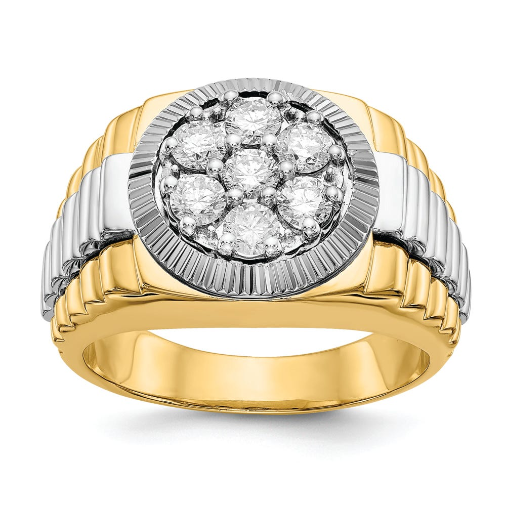 Men's Lab-Crafted Diamond Cluster Ring