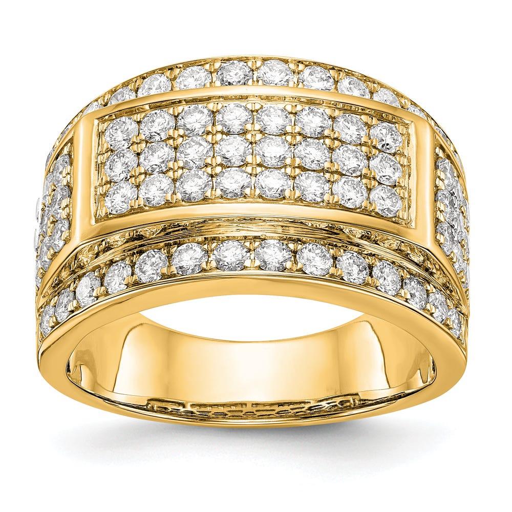 Men's Lab-Crafted Diamond Ring