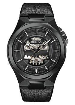 Bulova Men's Black Maquina Watch 98A238