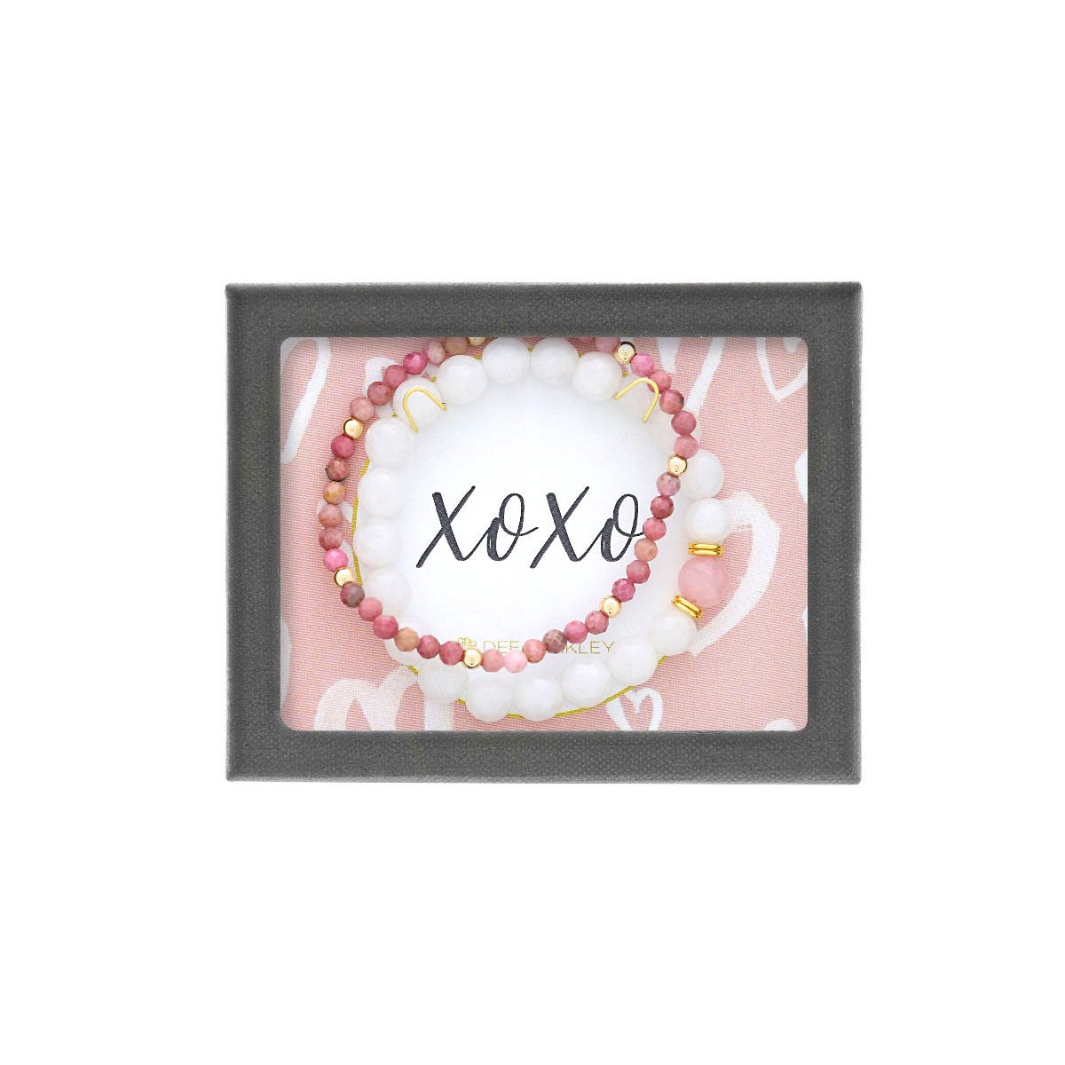 XOXO Double Bracelet in Gold Plated Sterling Silver