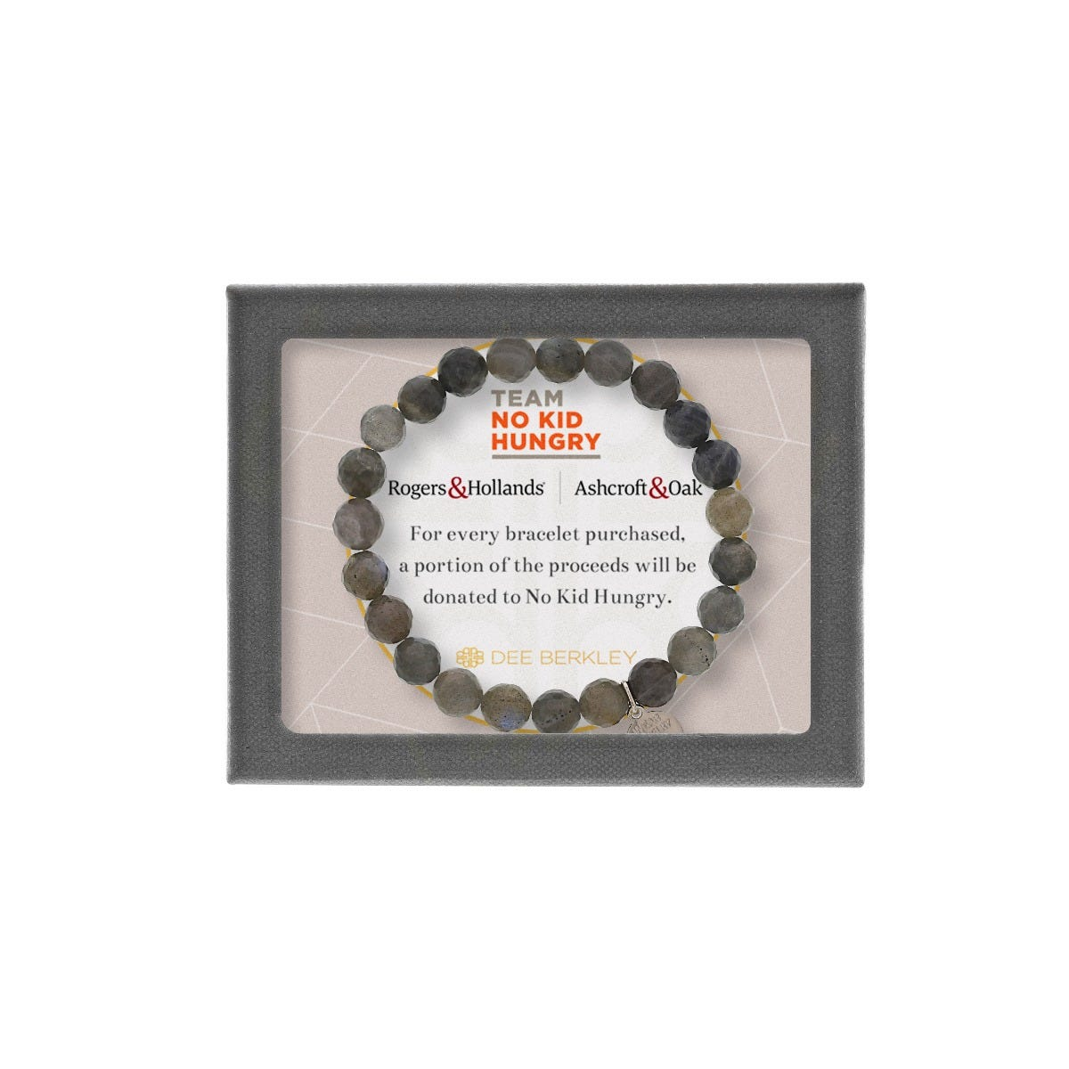 Support No Kid Hungry - Labradorite Beaded Bracelet