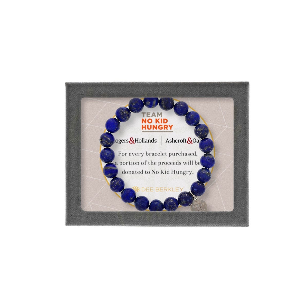 Support No Kid Hungry - Lapis Beaded Bracelet