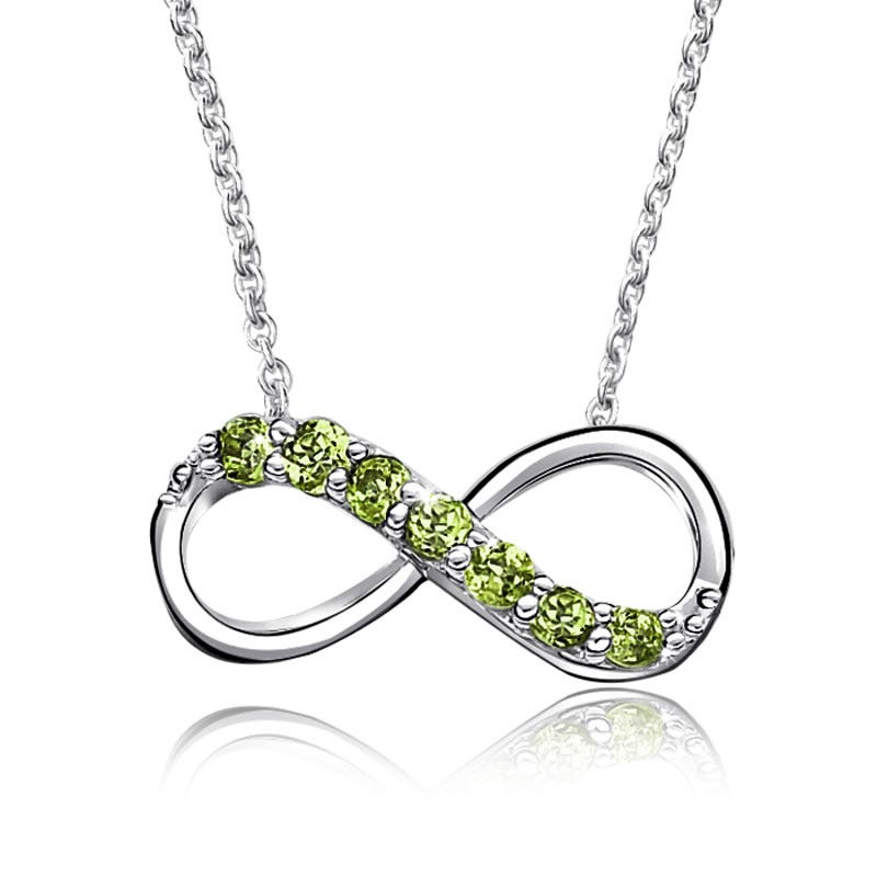 Peridot Infinity Necklace