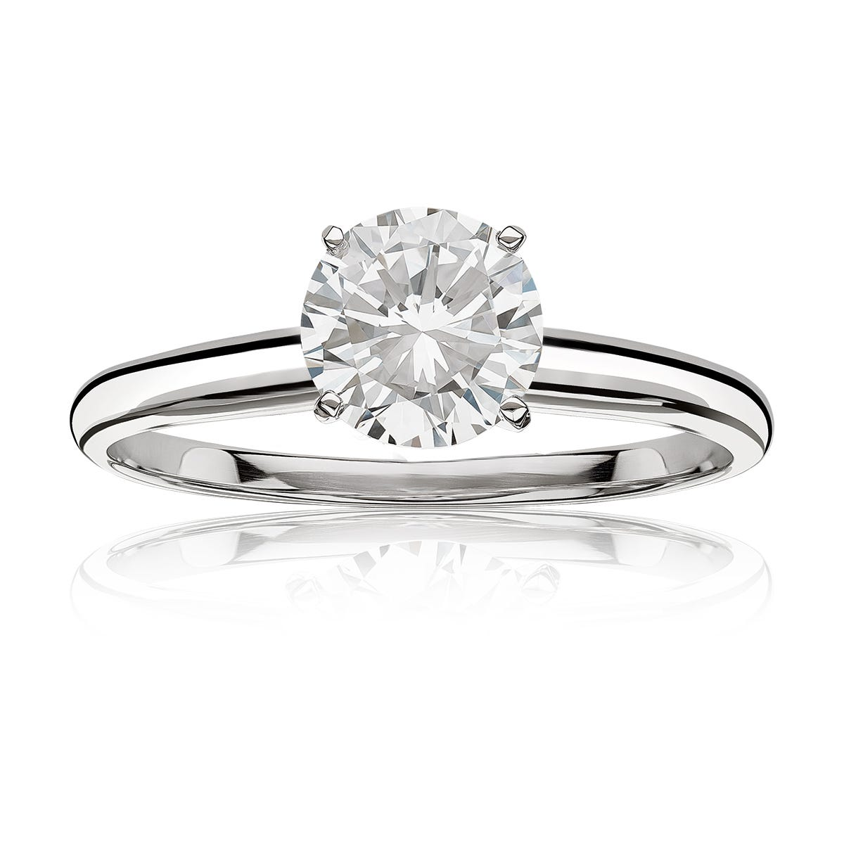 Diamond Round ½ct. Classic Solitaire Engagement Ring