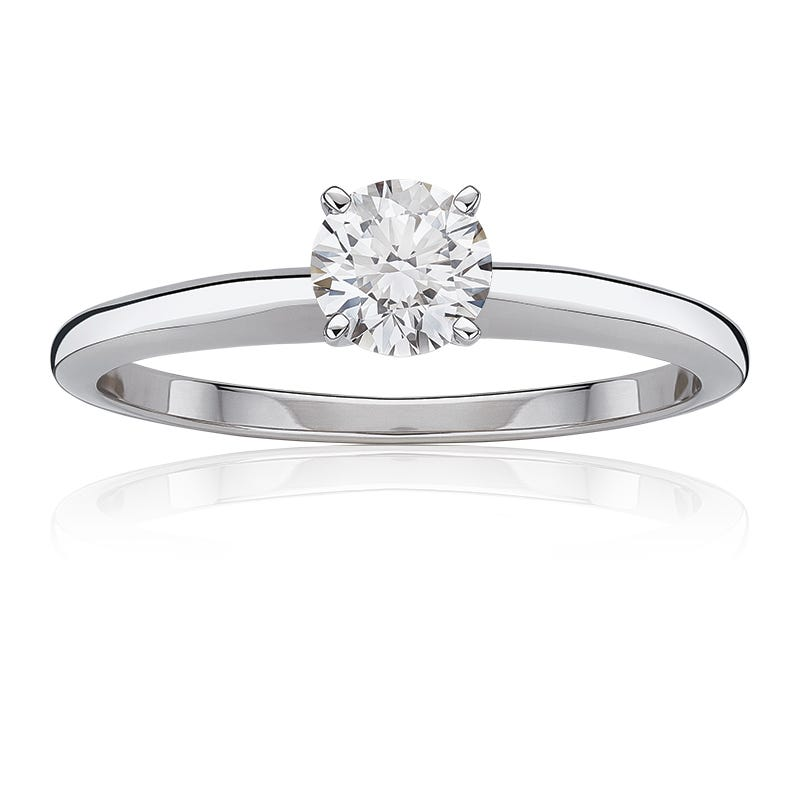 Lab-Crafted Diamond 1ct. Best Classic Round Solitaire Engagement Ring