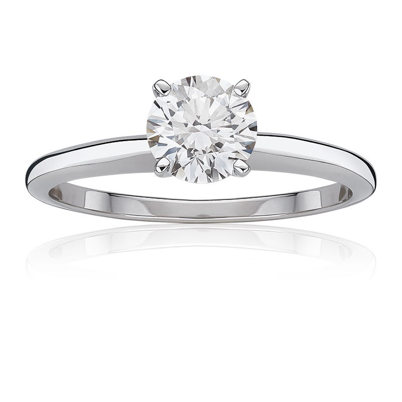 Lab-Crafted Diamond 1-1/4ct. Best Classic Round Solitaire Engagement Ring