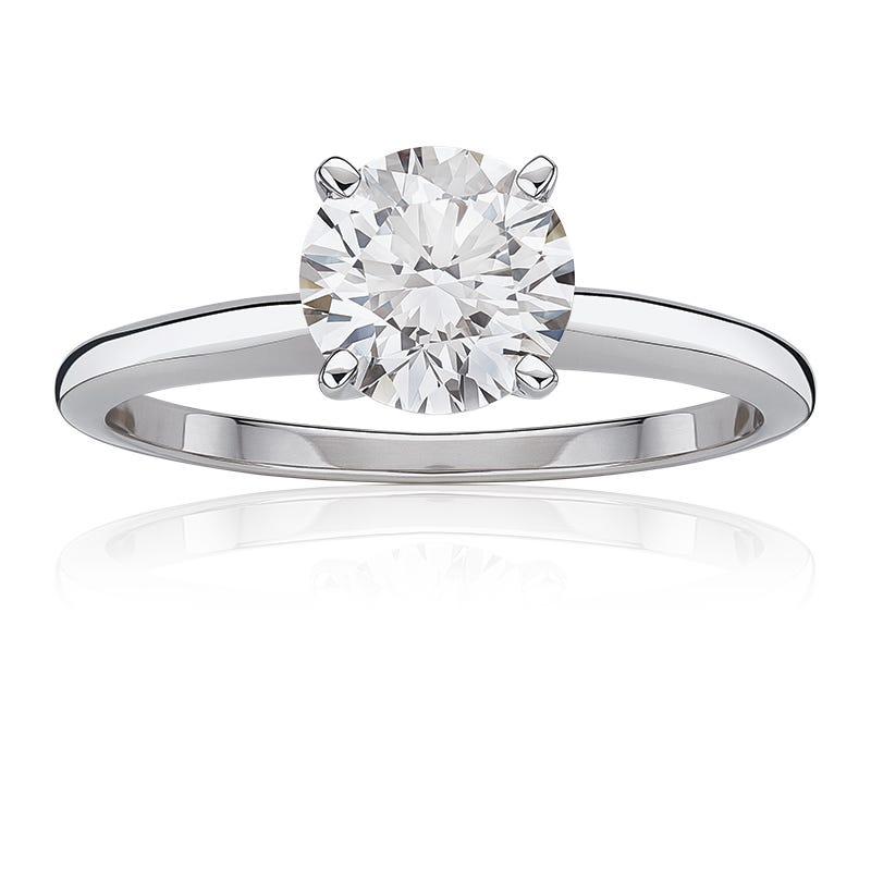 Lab-Crafted Diamond 1-1/2ct. Best Classic Round Solitaire Engagement Ring