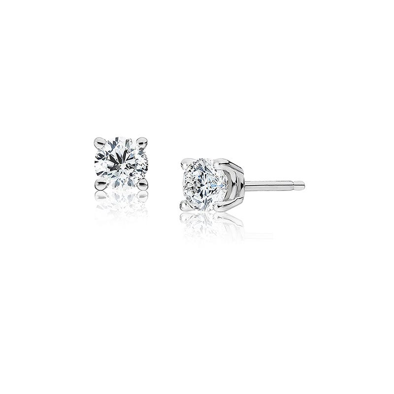 Round Diamond 1/3ctw. Solitaire Stud Earrings
