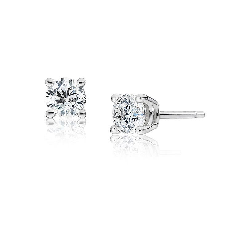 Round Diamond 0.50ctw. Solitaire Stud Earrings