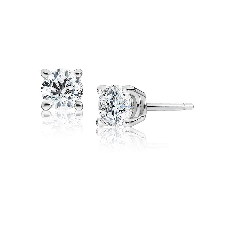 Round Diamond 0.75ctw. Solitaire Stud Earrings