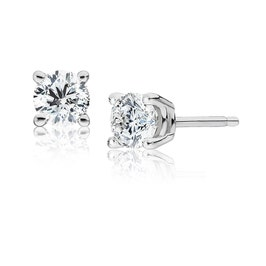 Round Diamond 1ctw. Solitaire Stud Earrings
