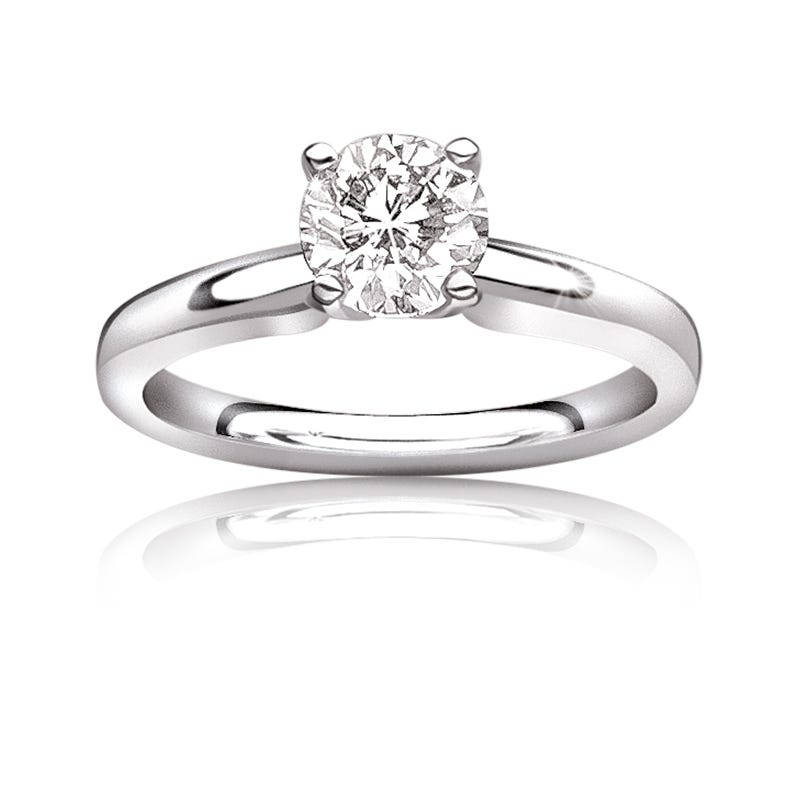 Diamond Round 1½ct. Ideal Classic Solitaire Engagement Ring
