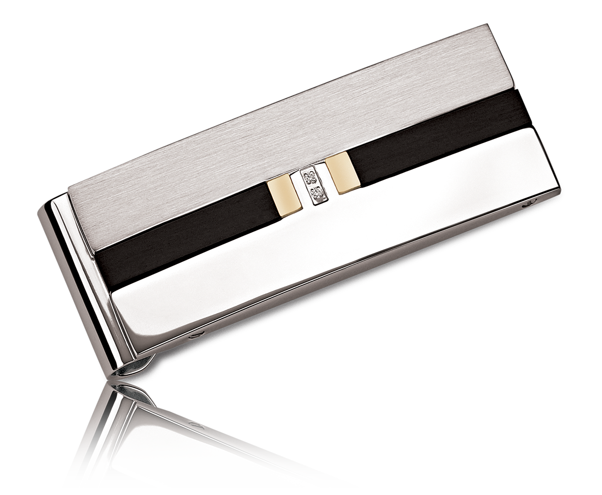 Stainless Steel Diamond Money Clip