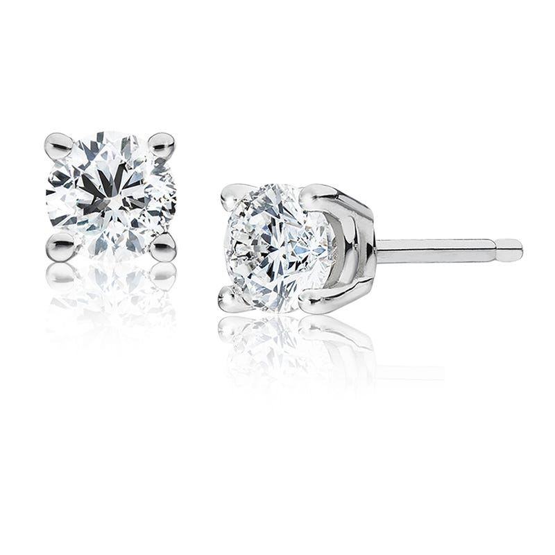 Round Diamond 1.50ctw. Solitaire Stud Earrings