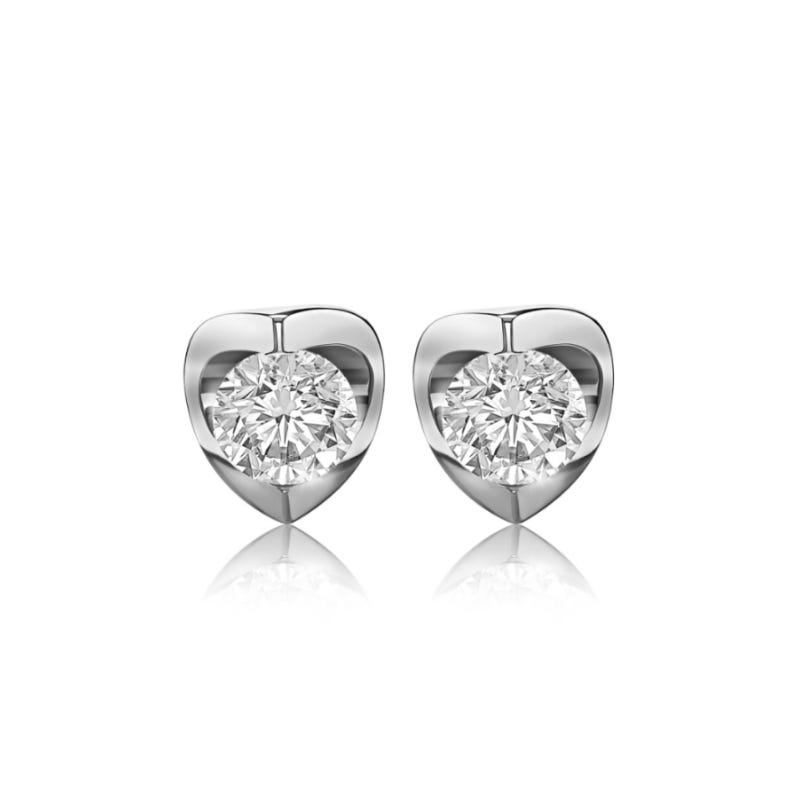 Canadian Diamond™ 1/6ctw. Diamond Solitaire Earrings in 14k White Gold