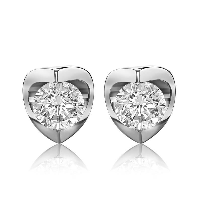 Canadian Diamond™ 1ctw. Diamond Solitaire Earrings in 14k White Gold