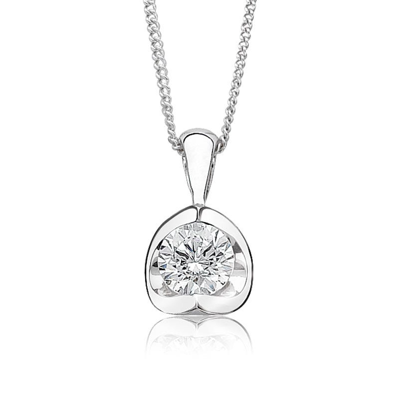 Canadian Diamond 1/3ct. Solitaire Pendant 14k White Gold