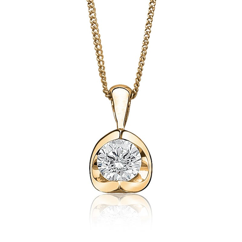 Canadian Diamond 1/10ct. Solitaire Pendant 14k Yellow Gold
