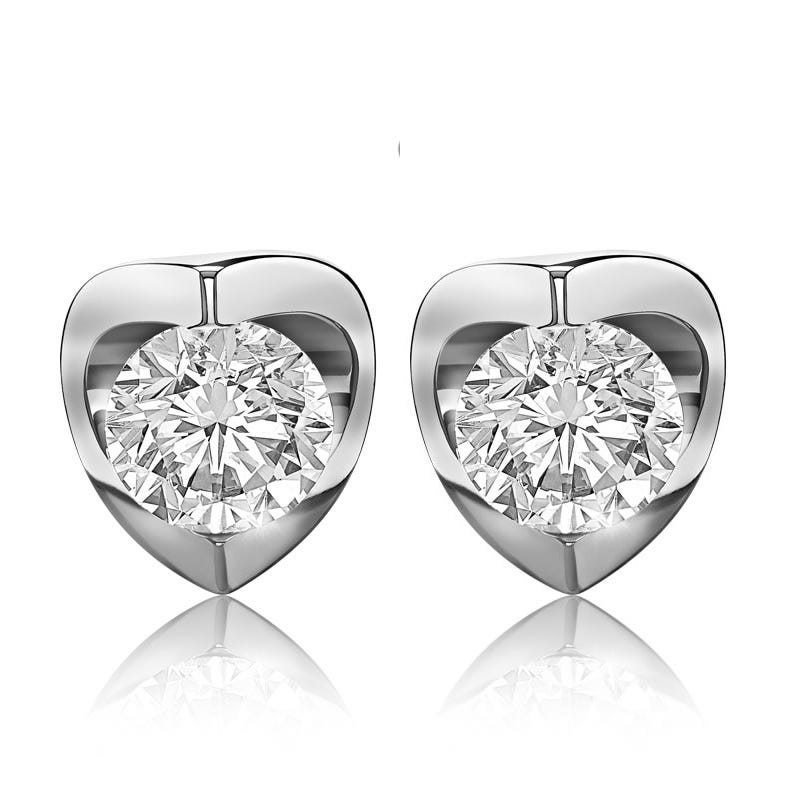 Canadian Diamond™ 2ctw. Diamond Solitaire Earrings in 14k White Gold