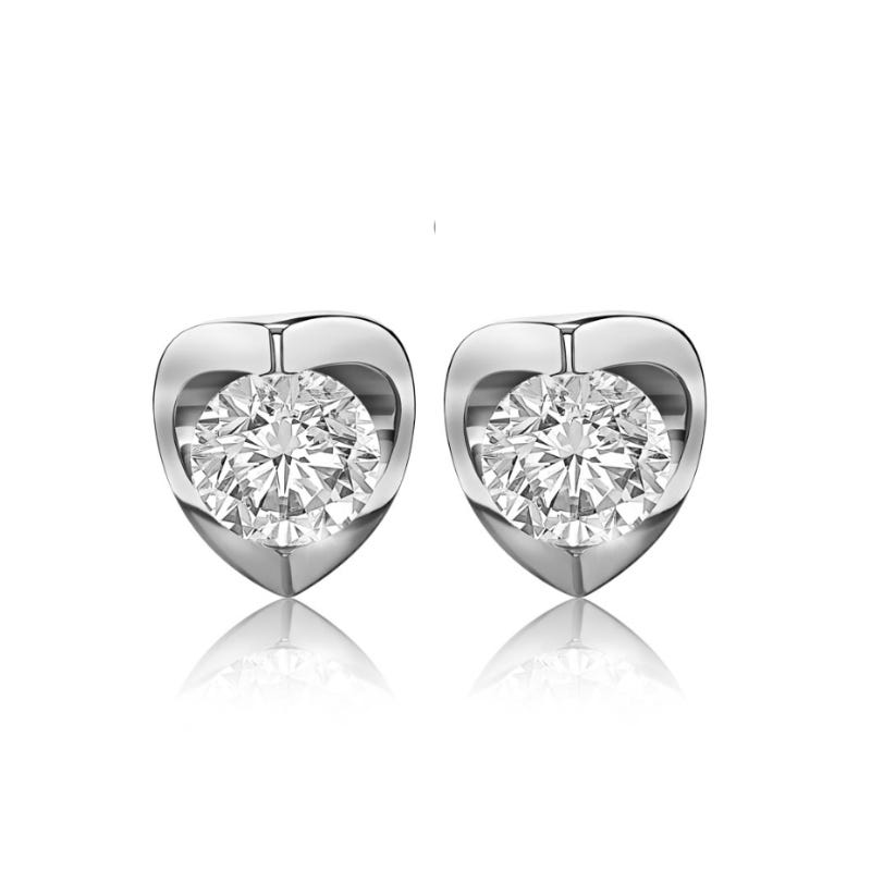Canadian Diamond™ 3/4ctw. Diamond Solitaire Earrings in 14k White Gold