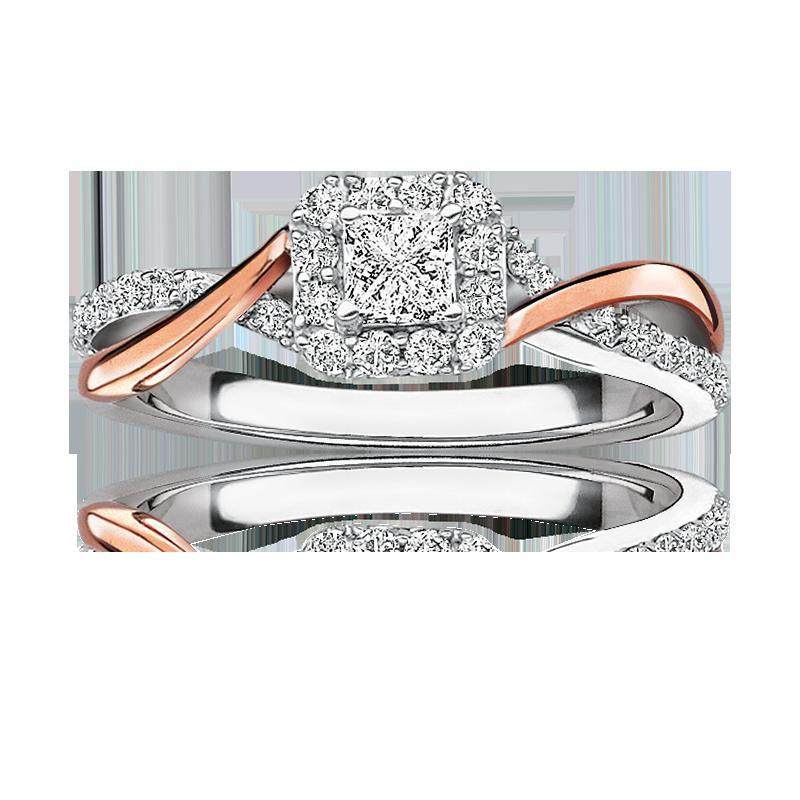 Rosie. Princess Twist ½ct. Diamond Engagement Ring in 14k Gold