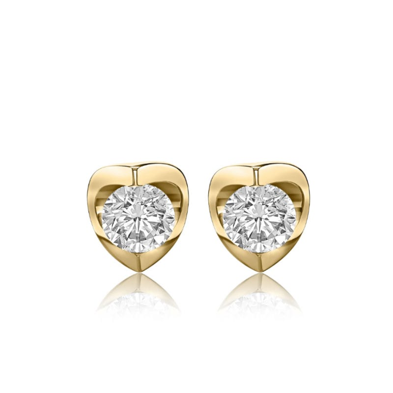 Canadian Diamond™ 1/2ctw. Diamond Solitaire Earrings in 14k Yellow Gold