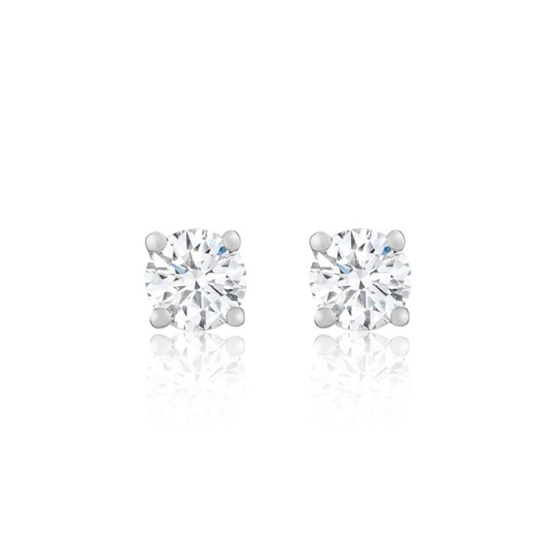 Lab-Crafted Classic Round Brilliant 1-1/2ct. Diamond Solitaire Stud Earrings