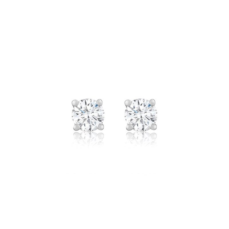 Lab-Crafted Diamond Classic Round Brilliant 3/4ct. Solitaire Stud Earrings
