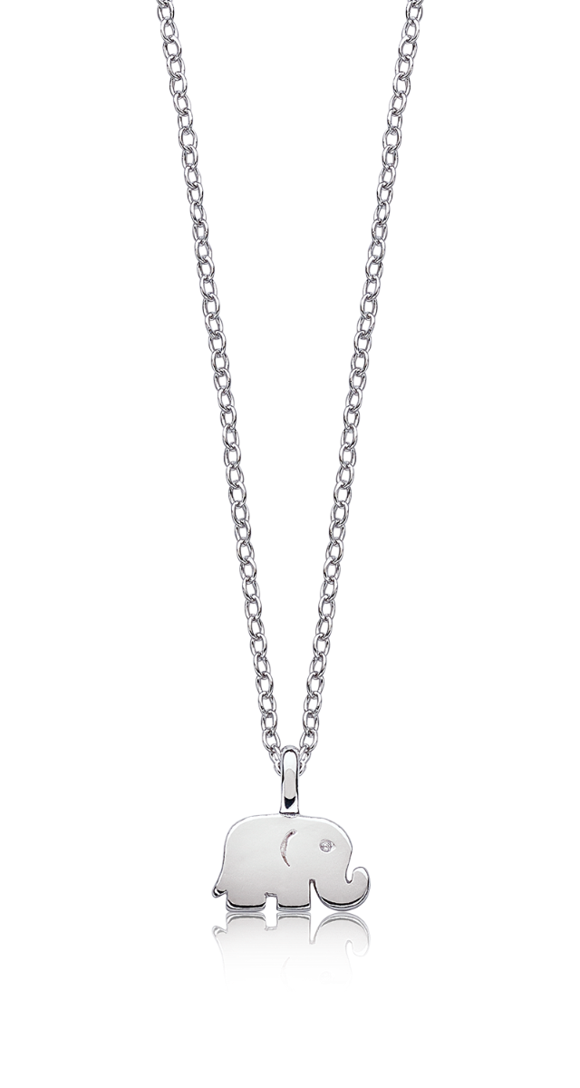 Elephant Pendant in Sterling Silver