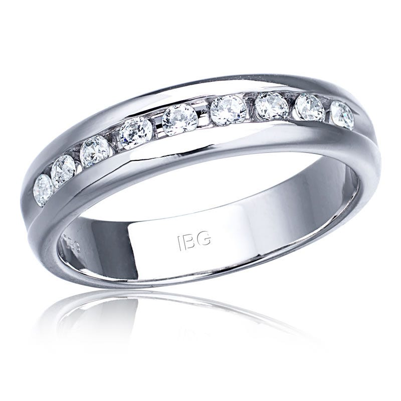 IBGoodman Men's ½ct. Diamond Band in 14k White Gold