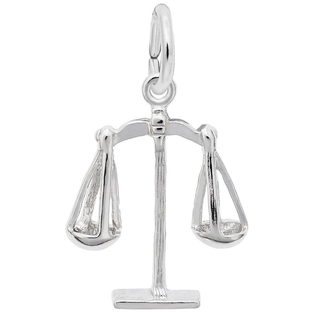 Scales of Justice Sterling Silver Charm