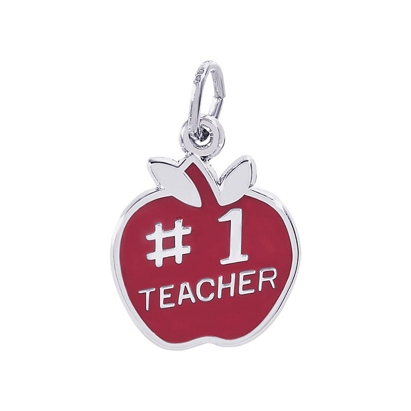 Teacher Sterling Silver Charm